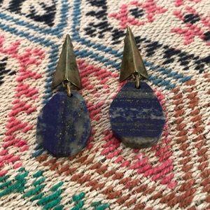 Pyramid stone drop earrings